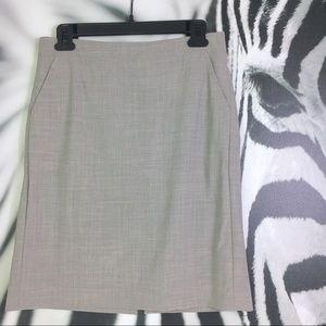 Banana Republic Grey Wool Pencil Skirt Size 2